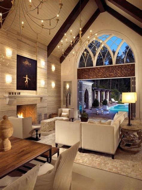 Vaulted Ceiling Living Room | 20 lavish living room designs with vaulted ceilings