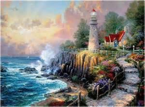 Thomas Kinkade Lamp by Thomas Kinkade Lighthouse