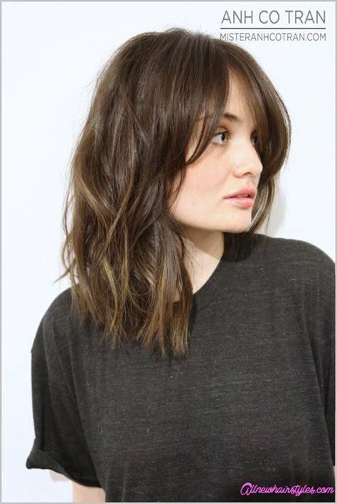 bob hairstyles with long bangs long bob haircuts with bangs allnewhairstyles com
