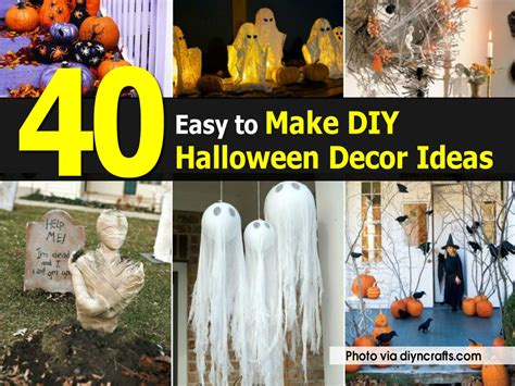 how to make easy halloween decorations at home 40 easy to make diy halloween decor ideas