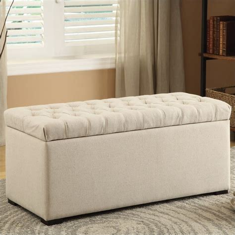 cloth storage bench tufted storage bench linen fabric sah3917 x14