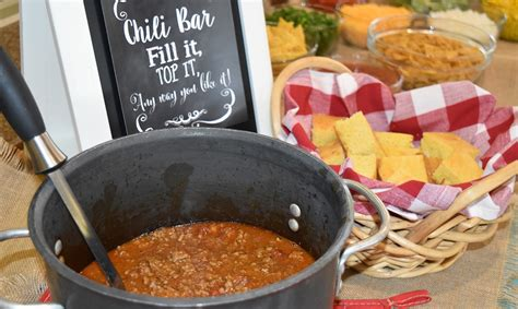 chili toppings bar how to throw a chili bar party beef loving texans
