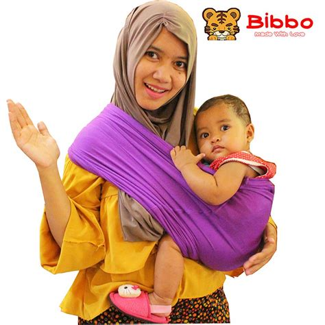 Gendongan Bayi Simple geos bibbo gendongan instan simple anti melar size s