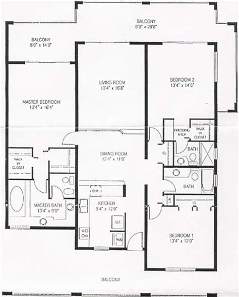 3 Bedroom Condo Floor Plan | pelican cove beach condos floor plan