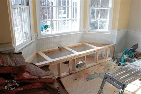 building a window seat in a bay window seriously kitchen update and news flash pretty handy
