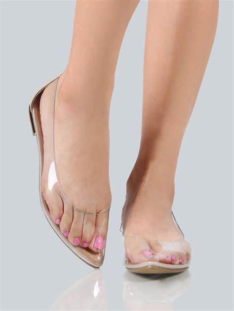 clear flats shoes clear point toe flats clear makemechic