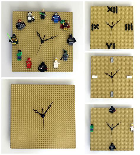 Weird Wall Clocks by Diy Lego Clock Customizable Quick Easy Our Nerd Home