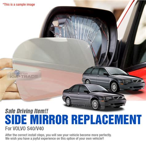 replacement side mirror lh p adhesive  volvo   sv  ebay