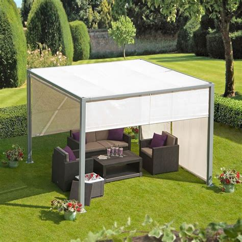 aluminium gazebo soho 3m aluminium gazebo with adjustable panels garden