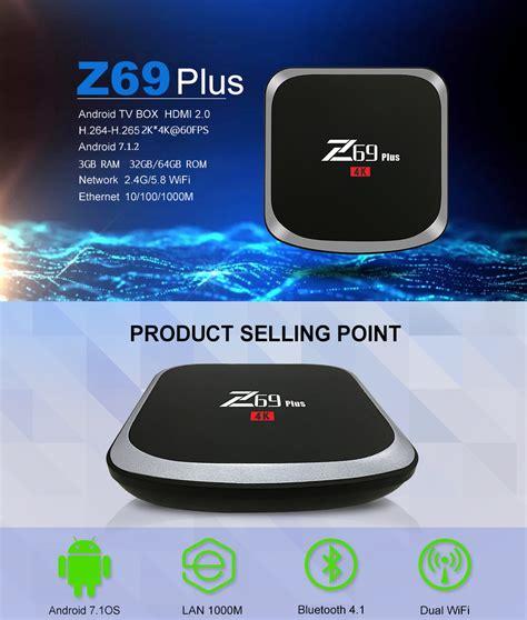 bundle z69 plus amlogic s912 3gb 64gb tv box tronsmart tsm01
