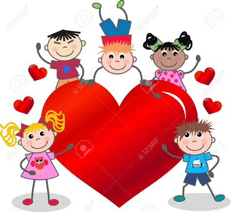 valentines day for children valentines day family clipart clipground