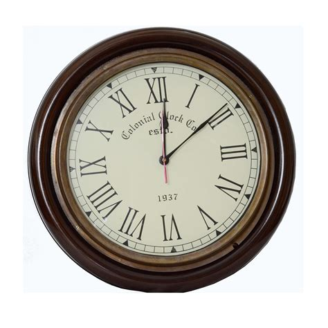 Vintage Wall Clock classic vintage style colonial wall clock antikcart
