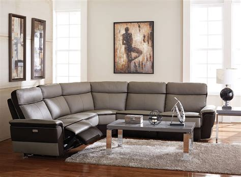 top grain leather reclining sectional homelegance laertes top grain leather power reclining