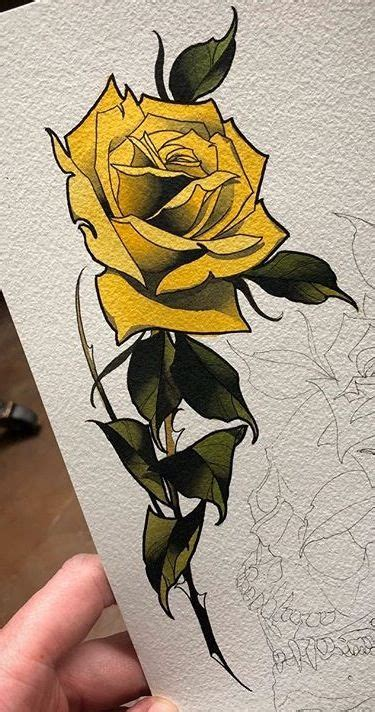 yellow rose tattoo shop yellow roses neo traditional tattoos
