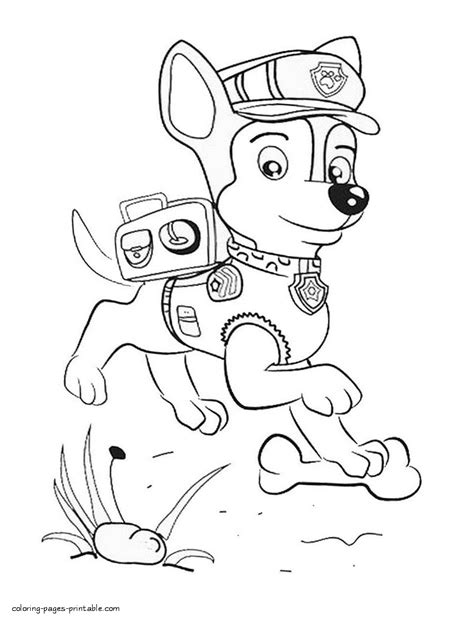 coloring pages of chase from paw patrol free coloring pages paw patrol chase