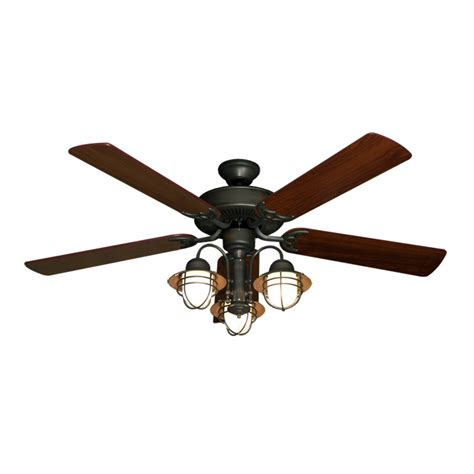 hunter nautical ceiling fans 52 quot nautical ceiling fan with light oil rubbed bronze