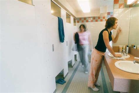 same gender bathrooms shared traditional room