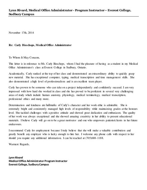 Recommendation Letter For Office B Reference Letter