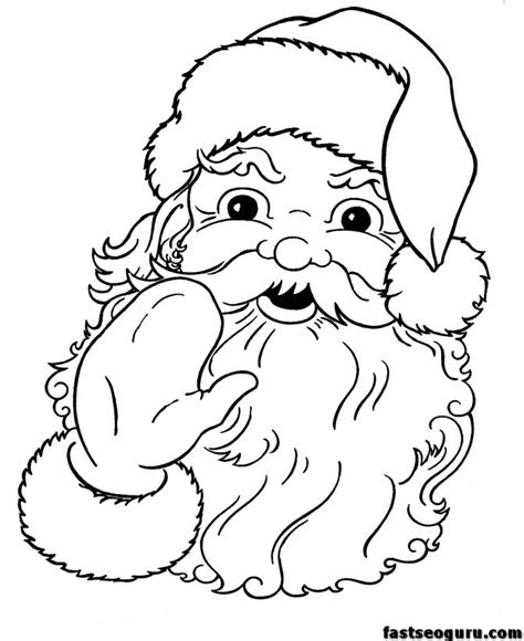 printable coloring pictures of santa claus santa claus face coloring pages