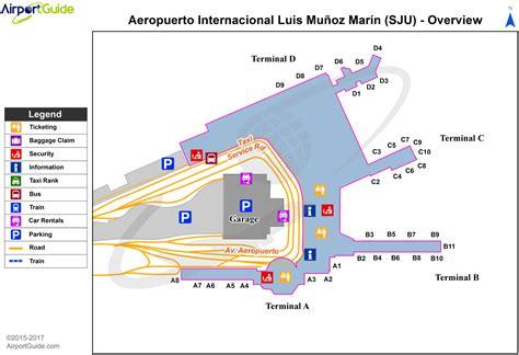 sju airport map luis munoz marin international airport tjsj sju