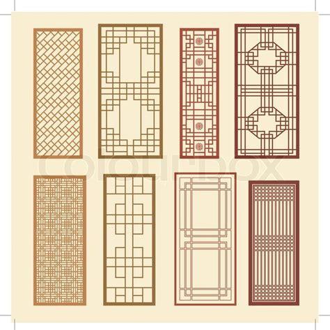 Frame Korea 1686 1 stock vector of korean of window frame symbol sets