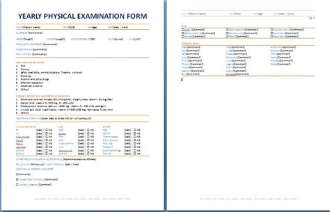 sample physical examination form 9 free documents in pdf