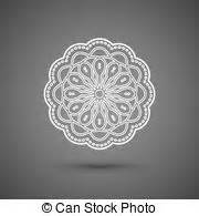 paper lace doily round crochet ornament stock vector crochet lace mandala vintage handmade knitted doily