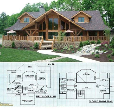 Log Home Design Ideas Planning Guide | 25 best ideas about log cabin floor plans on pinterest