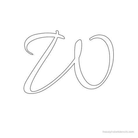 cursive letter stencils free printable search results