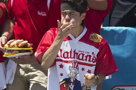 female hot dog eating contest winner dogs of war animal rights activists crash fourth of july
