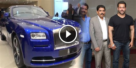 Salman Khan Rolls Royce 2 Days Ago Salman Khan Buy 10 Crore Cost Rolls Royce Car