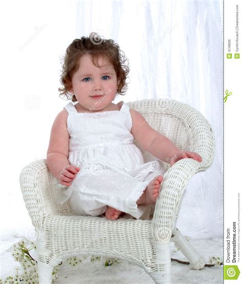 Baby On Chair by Baby On Wicker Chair Royalty Free Stock Image Image