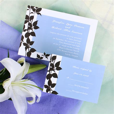 invitation card simple design personalized refreshed rustic branch sky wedding