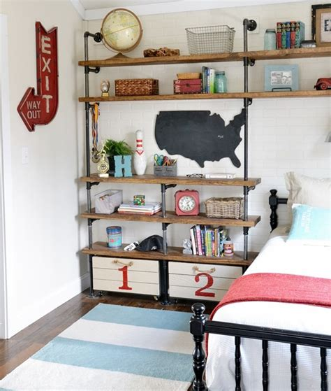 shelves for boys bedroom industrial shelves for a boy s room beneath my heart