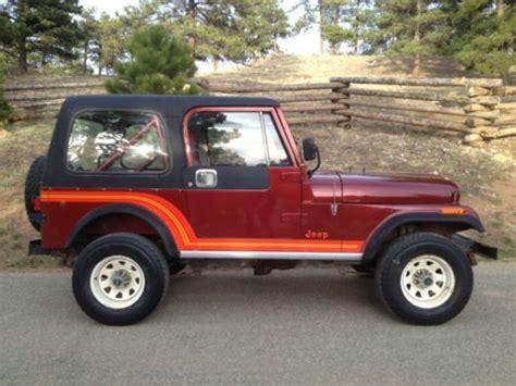 1985 Jeep Renegade Purchase Used 1985 Jeep Cj7 Renegade Hardtop 4x4 79k Mi