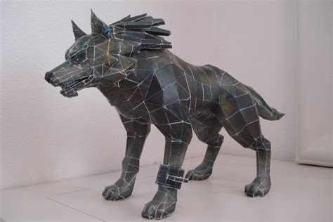 Papercraft Wolf - pin papercraft minecraft wolf on