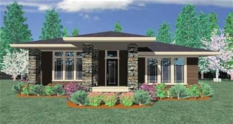 Three Bedroom Ranch House Plans prairie style house plan transformed american