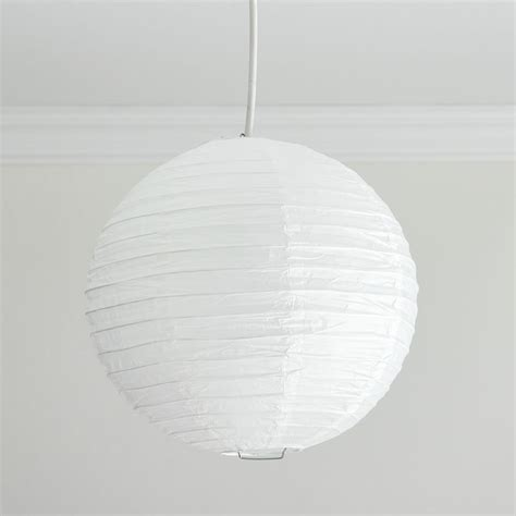Paper Ceiling Light Shade Wilko Functional Paper Shade White 16in At Wilko