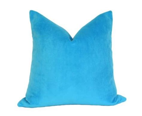 Electric Blue Pillows by Electric Blue Velvet Pillow I Ariannabelle