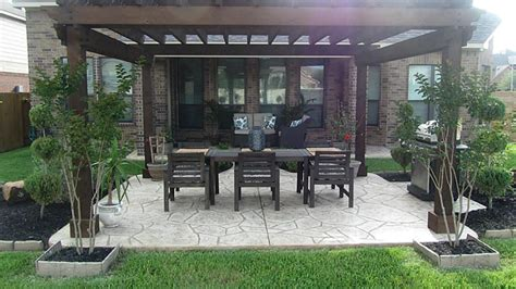 sted concrete patio with pergola gorgeous backyard