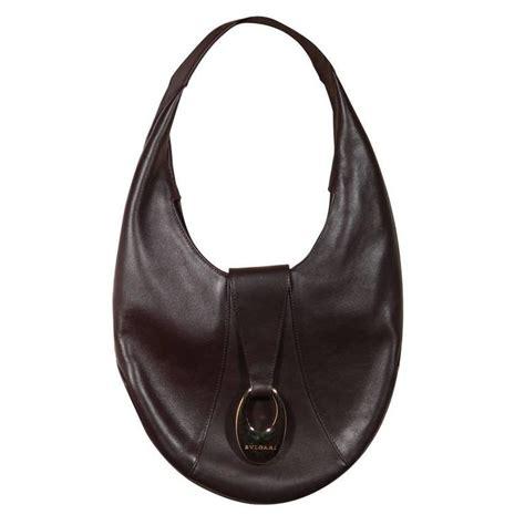 Sissi Oval Shoulder Hobo by Bulgari Bvlgari Brown Soft Leather Hobo Shoulder Bag Oval
