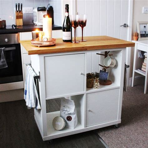 Kitchen Island Wheels by The Best Ikea Kallax Hacks And 20 Different Ways To Use Them