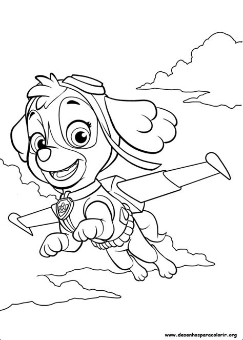 free coloring pages of sky from paw patrol