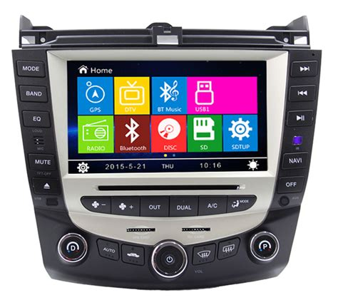 8 inch car dvd player gps navigation system for honda accord 2003 2004 2005 2006 2007 single or