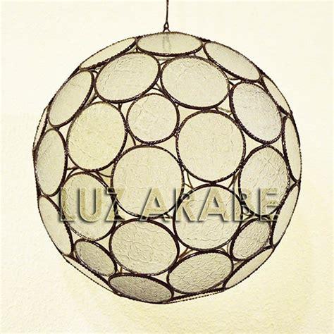 acquista grande lampadario  forma  sfera  vetro