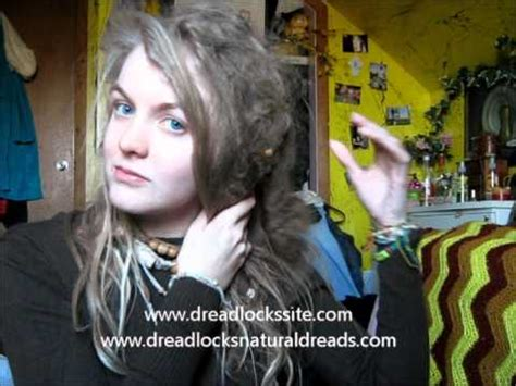 how to dread naturally natural dreads freeform dreadlocks natural freeform dreadlocks at 10 months youtube