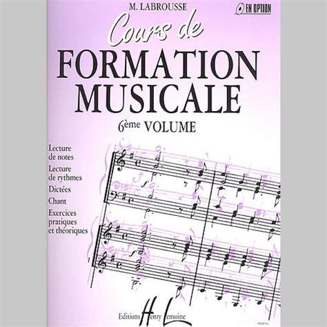 0043037755 cours de formation musicale pour marguerite labrousse cours de formation musicale vol 6