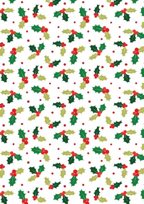 Printable Xmas Paper | free craft designs free christmas holly scrapbook paper