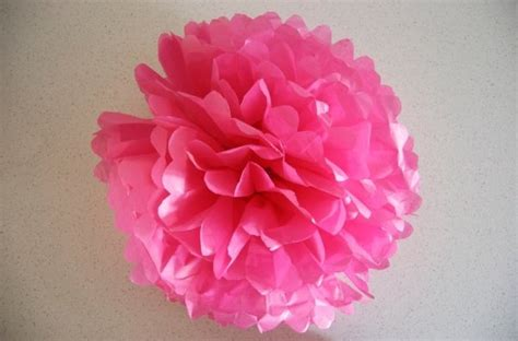 Crepe Paper Pom Poms How To Make - how to make paper pom poms things to do with in