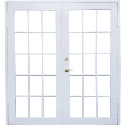 Awp 72 In X 80 In Aluminum White Prehung Right Hand Outswing Patio Doors